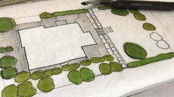 Entwurf eines Hausgartens