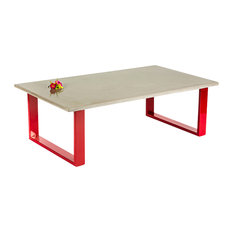Concrete Coffee Table Red