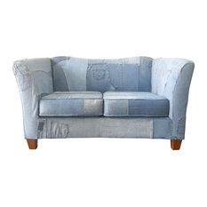 Pillowed   Denim Sofa   Sofas
