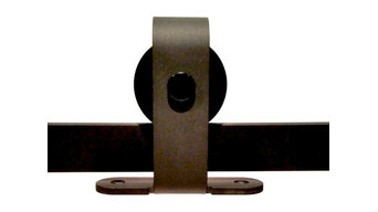 Top Mount Sliding Barn Door Hardware, Black, 8'