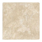 Durango Travertine Tile, 16x16, Tumbled Field Tiles, 10 Pieces