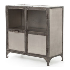 Industrial Storage Cabinet With Doors With Fronzoni Industrial Loft Wide Metal Shoe Locker Style Sideboard Storage Cabinets 50 Most Popular For 2018 Houzz