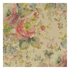 Macbeth Blush Floral Rose Pillow Sham, Linen, Euro, Ruffled