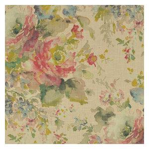 "Rod Pocket Curtain Panels, Set of 2, Macbeth Blush Floral Rose, 63"", Unlined"