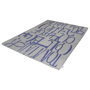 Tom Tailor Letters Rug, Blue and Grey, 140x200 cm