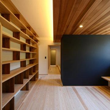 赤坂台の家(豊川市)ライブラリー