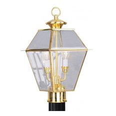 Polished Brass Post Light