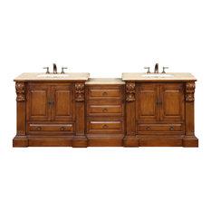 """95"""" Traditional Double Bathroom Vanity"""