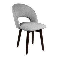 Franco Dining Chair, Gray Linen