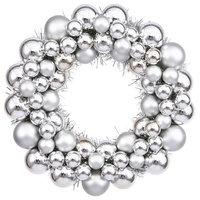 "Vickerman 12"" Ball Wreath, Silver"