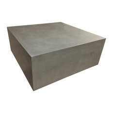 Trueform Concrete Box Concrete Table Limestone 36x36 Coffee Tables