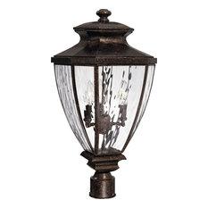 3-Light Vintage Bronze Exterior Post
