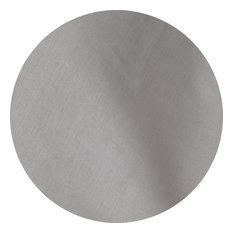 """Silver Grey Linen  Tablecloth, Silver, 90"""" Round"""