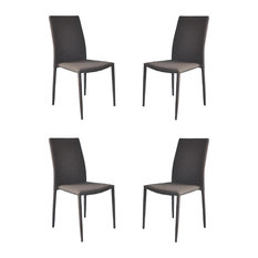 Superieur Divano Roma Furniture   Modern And Sleek Fabric Dining Room Chairs, Set Of  4,