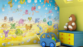 Kids alphabet theme bedroom