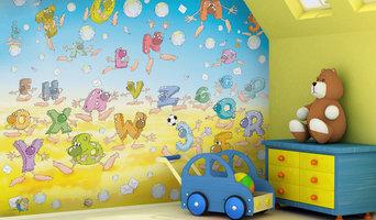 Kids alphabet theme bedroom