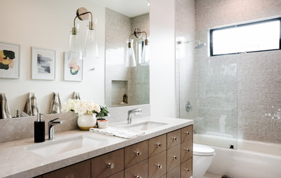 New This Week: 6 Refreshing Bathrooms With Shower-Tub Combos
