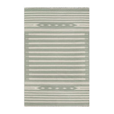 Contemporary Style Area Rug in Green (5 ft. 6 in. L x 3 ft. 6 in. W)