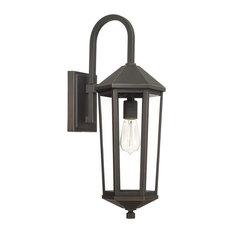 Capital-Lighting Ellsworth 1-Light Outdoor Wall Lantern 926911OZ, Oiled Bronze