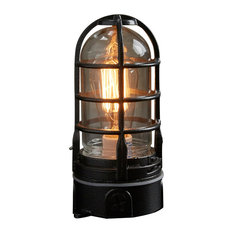 """The """"Vapor Touch"""" Hammered Black industrial touch lamp"""