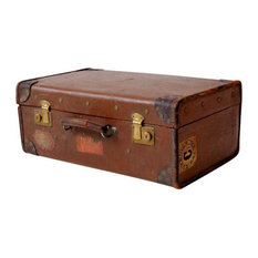 Consigned, Vintage Suitcase With Travel Stickers