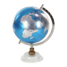 """GwG Outlet Metal Pvc Wooden Marble Globe 9""""x13"""""""
