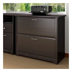 Bush Furniture Cabot Lateral File Cabinet in Espresso Oak