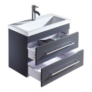 Emotion Mars 700 Bathroom Furniture, White High-Gloss, 70 cm, Anthracite Semi-Gl