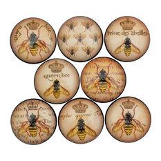 Queen Bee Cabinet Knobs, 8-Piece Set