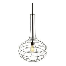 Globo Pendant Lamp, Black Cable, Small