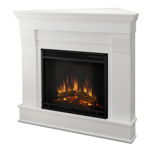 Silverton Electric Fireplace White Traditional Indoor