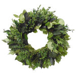 VanCortlandt Farms - Irish Forest Wreath - This wreath is a wonderful combination of preserved lush greens! Perfect gift for St Patrick's Day or just as decor!  Great for indoor or covered outdoor use!