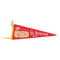"Consigned, Castillo De San Marcos St Augustine Florida Felt Flag, 8""x26"""