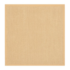 Safavieh Natural Fiber Collection NF443 Rug, Maize/Wheat, 10' Square