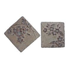"""11.5"""" Asst Blossom Tile Set"""