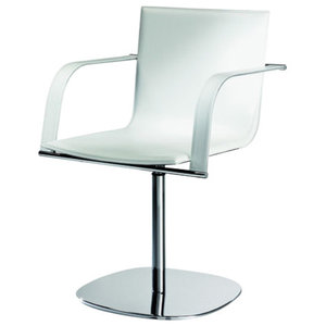 Galena White Leather Chair