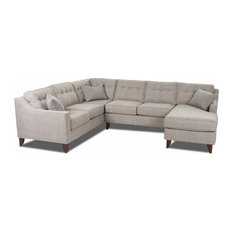 Klaussner - Audrina Sectional - Sectional Sofas  sc 1 st  Houzz : small round sectional sofa - Sectionals, Sofas & Couches