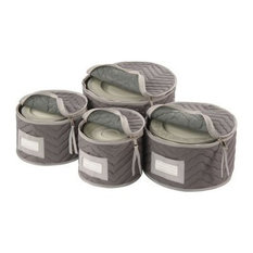 Quilted Gray China Storage