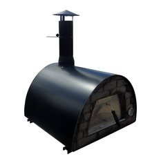 Authentic Pizza Ovens - Modern Wood Fire Pizza Oven, Black - Outdoor Pizza Ovens