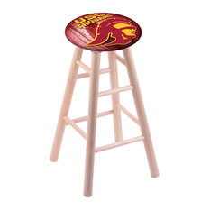 Maple Bar Stool Natural Finish With Usc Trojans Seat 30-inch