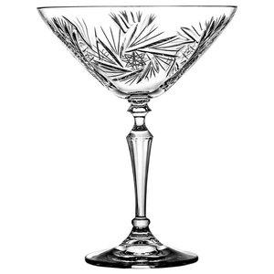 Pinwheel Lead Crystal Martini Glasses, Set of 6