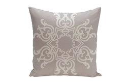 """Floral Motif Decorative Pillow, Rain Cloud, 20""""x20"""""""