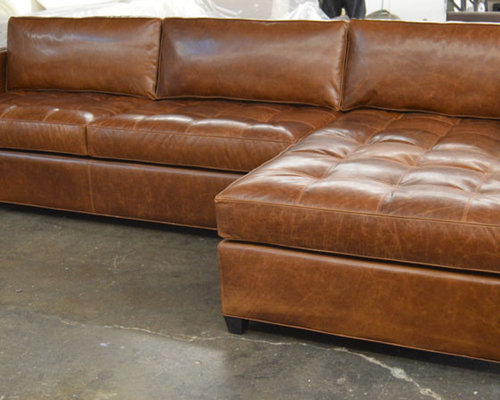 Charmant Arizona Leather Sofa Chaise Sectional In Italian Brompton Classic Vintage   Sectional  Sofas