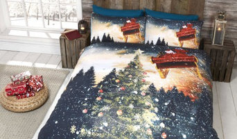 Northern Lights Christmas Tree & Santa Sleigh Quilt Duvet Cover Bedding Sets