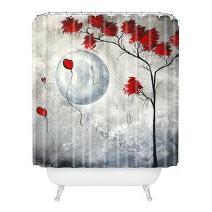 madart inc Far Side Of The Moon Shower Curtain