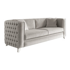 Buttoned Velvet Finished Sofa, 2-Seat Maxi