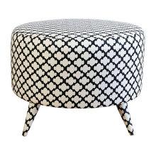 Upholstered Spool Ottomans