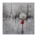 Sweet Angel I- Modern Oil Painting, Decor in Abstract Canvas Paintings
