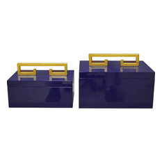 Avondale Boxes, High Gloss Indigo