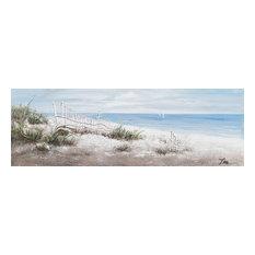 """Beach Vibes"" Hand Painted Canvas Art, 60""x20"""